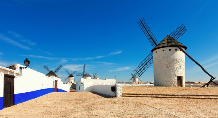 Molinos de viento en Campo de Criptana (Ciudad Real)